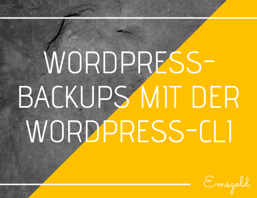 WordPress Backups mit WP-CLI - Titelbild