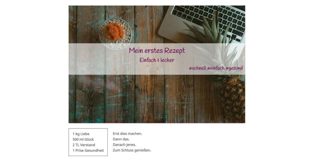 Rezeptdesign vom Shortcode