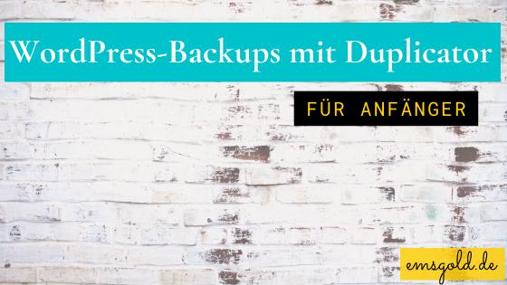 WordPress-Backups mit Duplicator